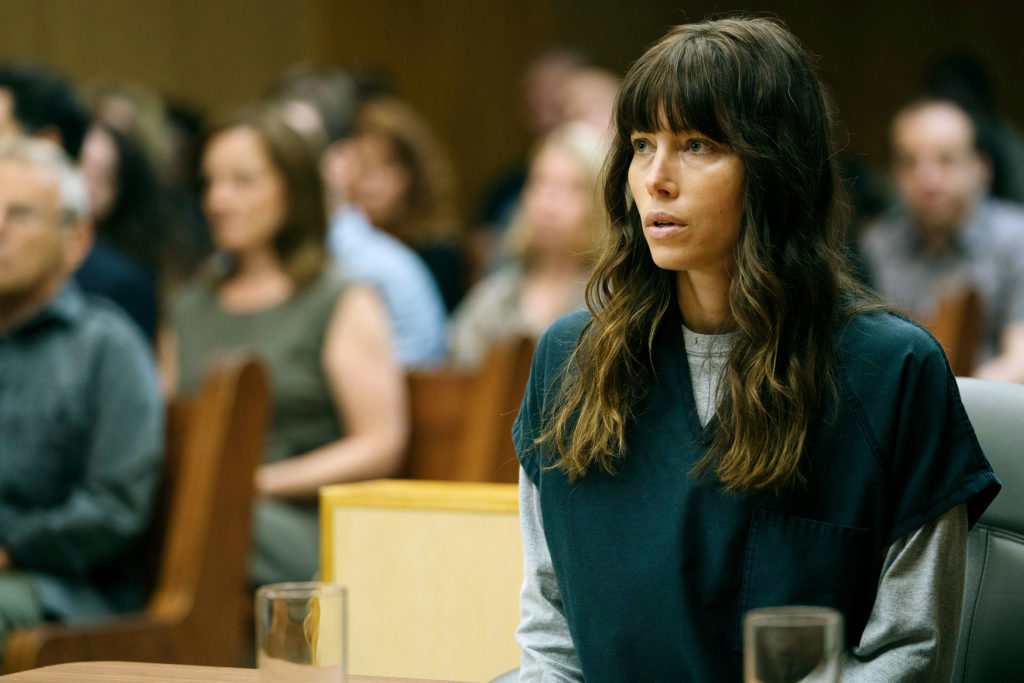 """THE SINNER -- """"Part VIII"""" Episode 108 -- Pictured: Jessica Biel as Cora Tannetti -- (Photo by: Peter Kramer/USA Network)"""
